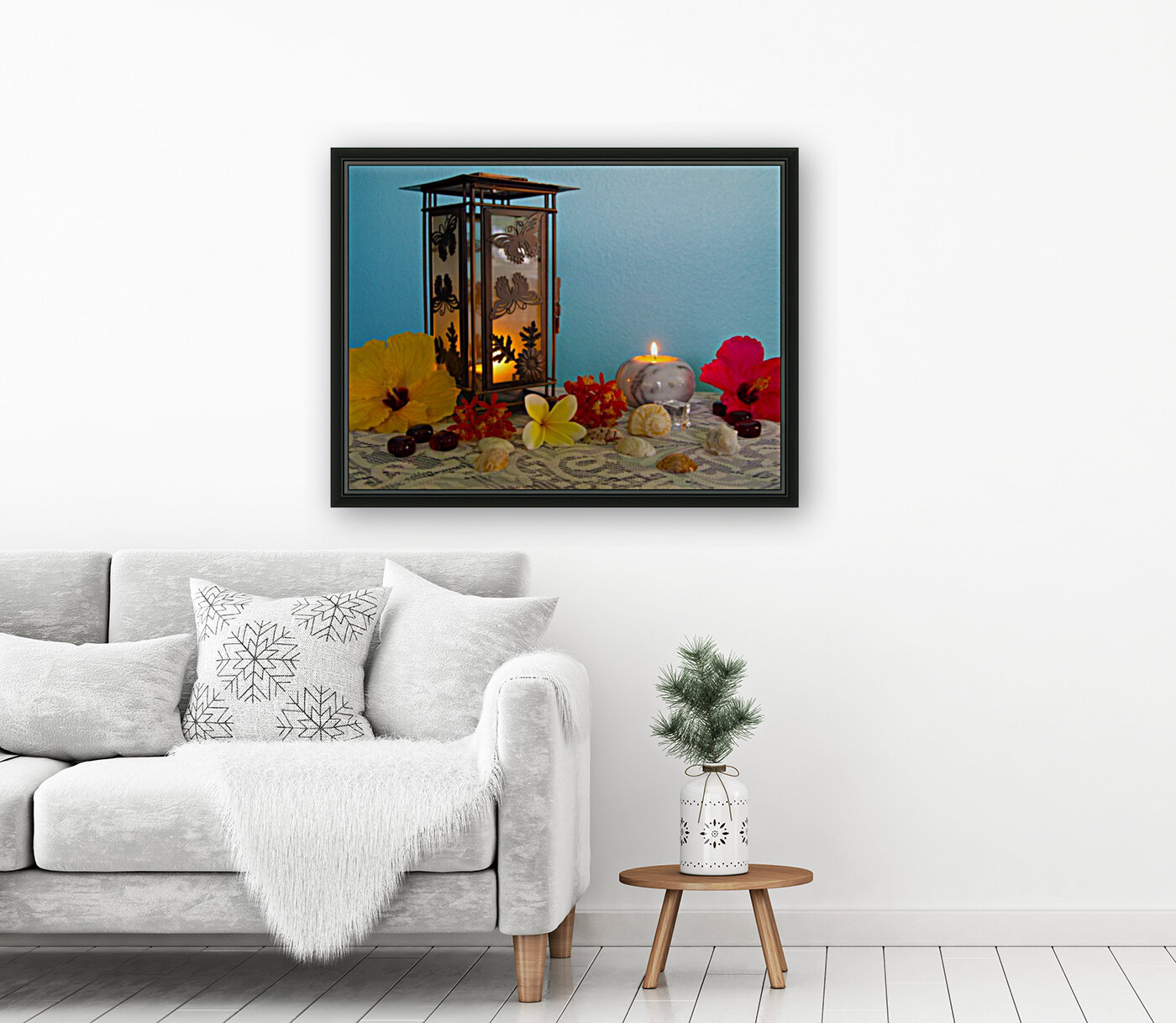Candles and Flowers  Art