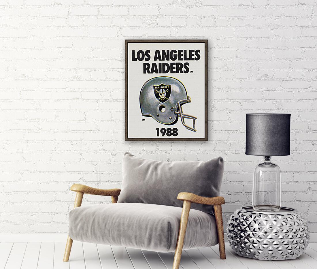 1988 Los Angeles Raiders Helmet Art  Art