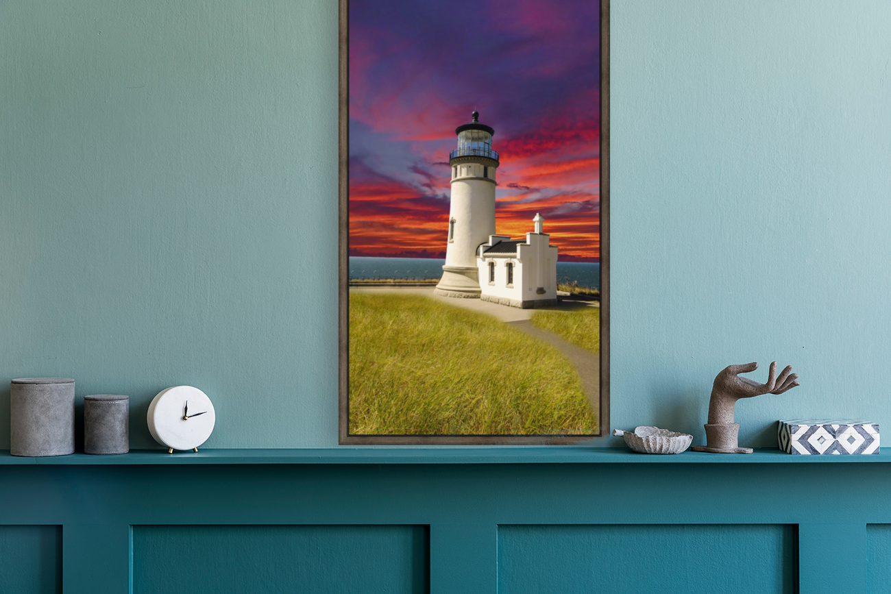 The LightHouse at Sunset  Art