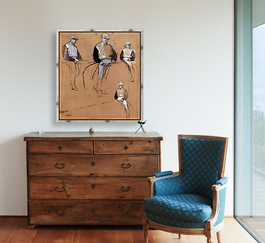 Study with four jockeys by Degas  Art