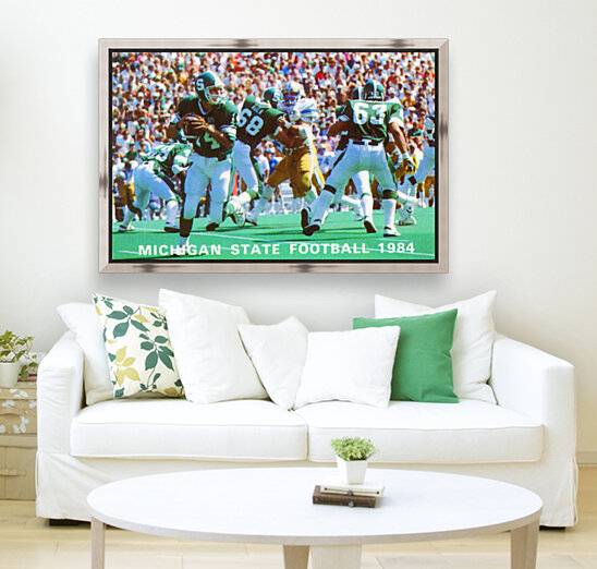 1984 Michigan State Football Poster with Floating Frame