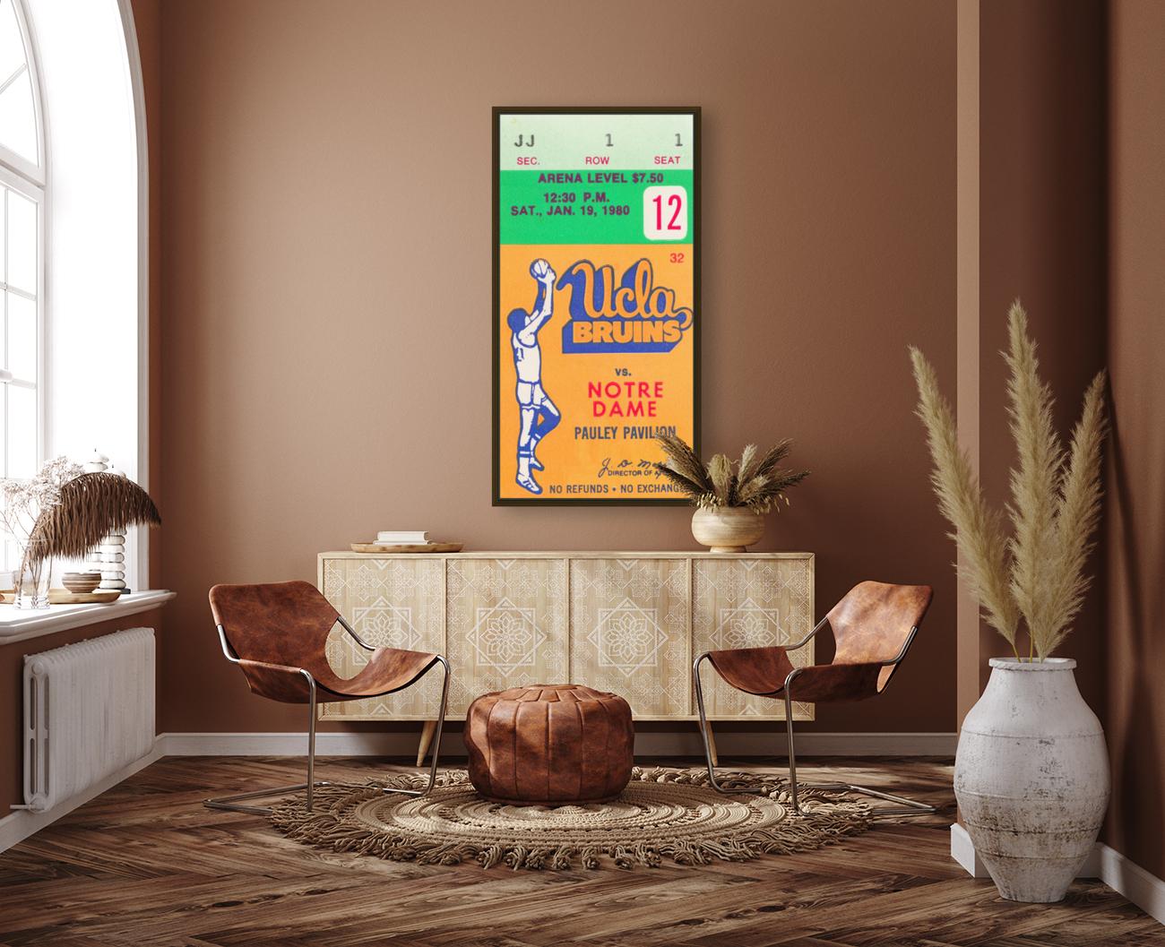 1980 UCLA Bruins Basketball Ticket Stub  Art  Art