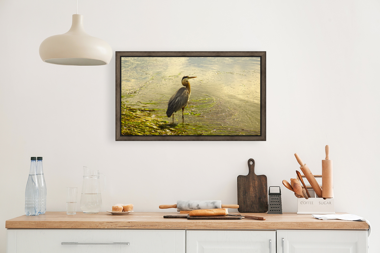 Blue Heron At the Estuary  Art
