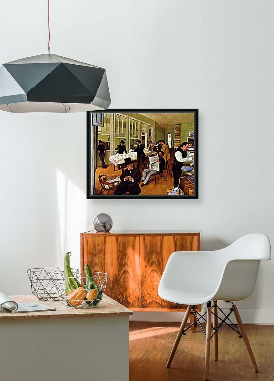 The cotton exchange by Degas  Art