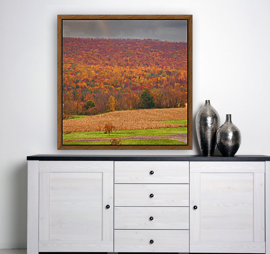 Painted Fall In The Mountains  Art