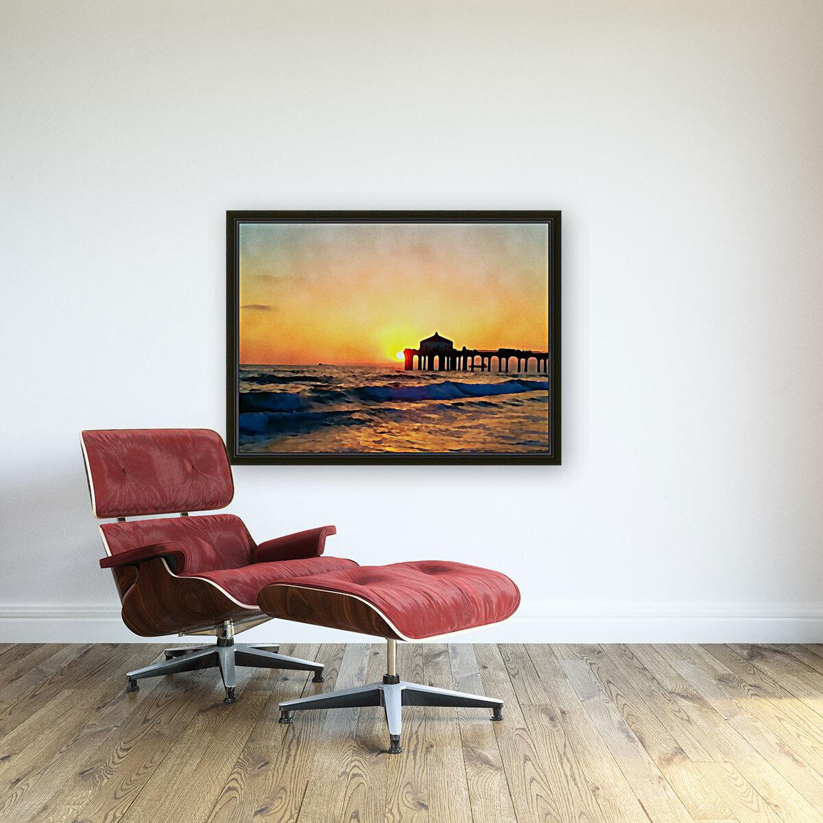 manhattan beach sunset wall art  Art