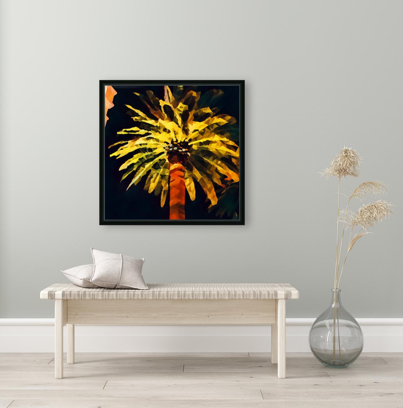 las vegas palm tree at night  Art