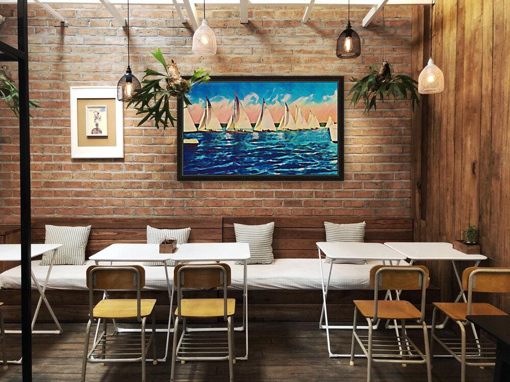 sail boats art  Art