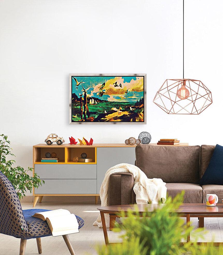 gulls laurence sisson maine art remix  Art