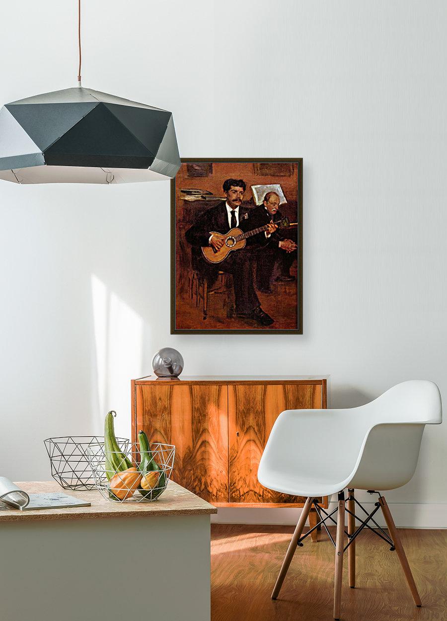 The guitarist Pagans and Monsieur Degas by Degas  Art