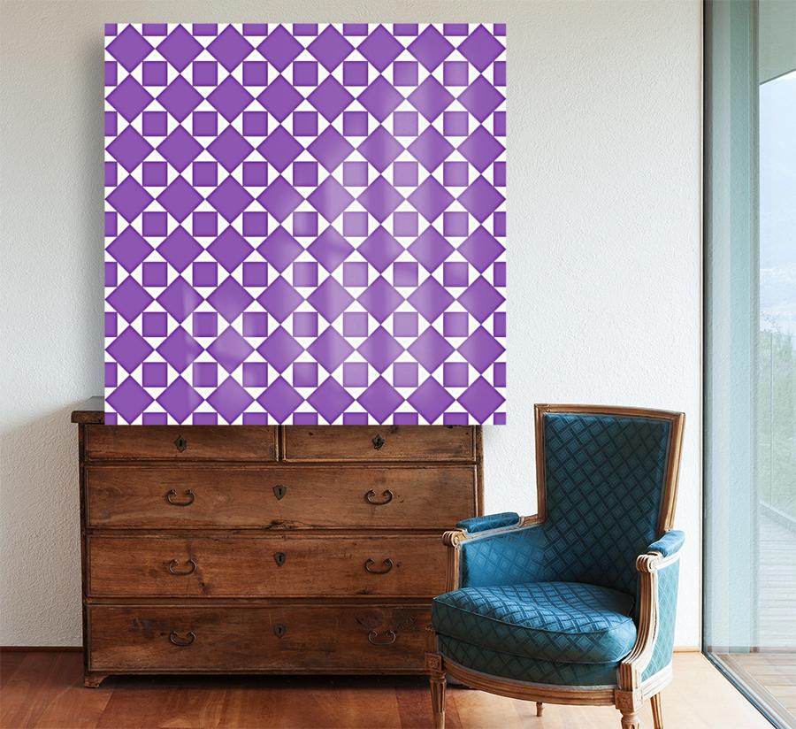 Purple Geometric Pattern  Art