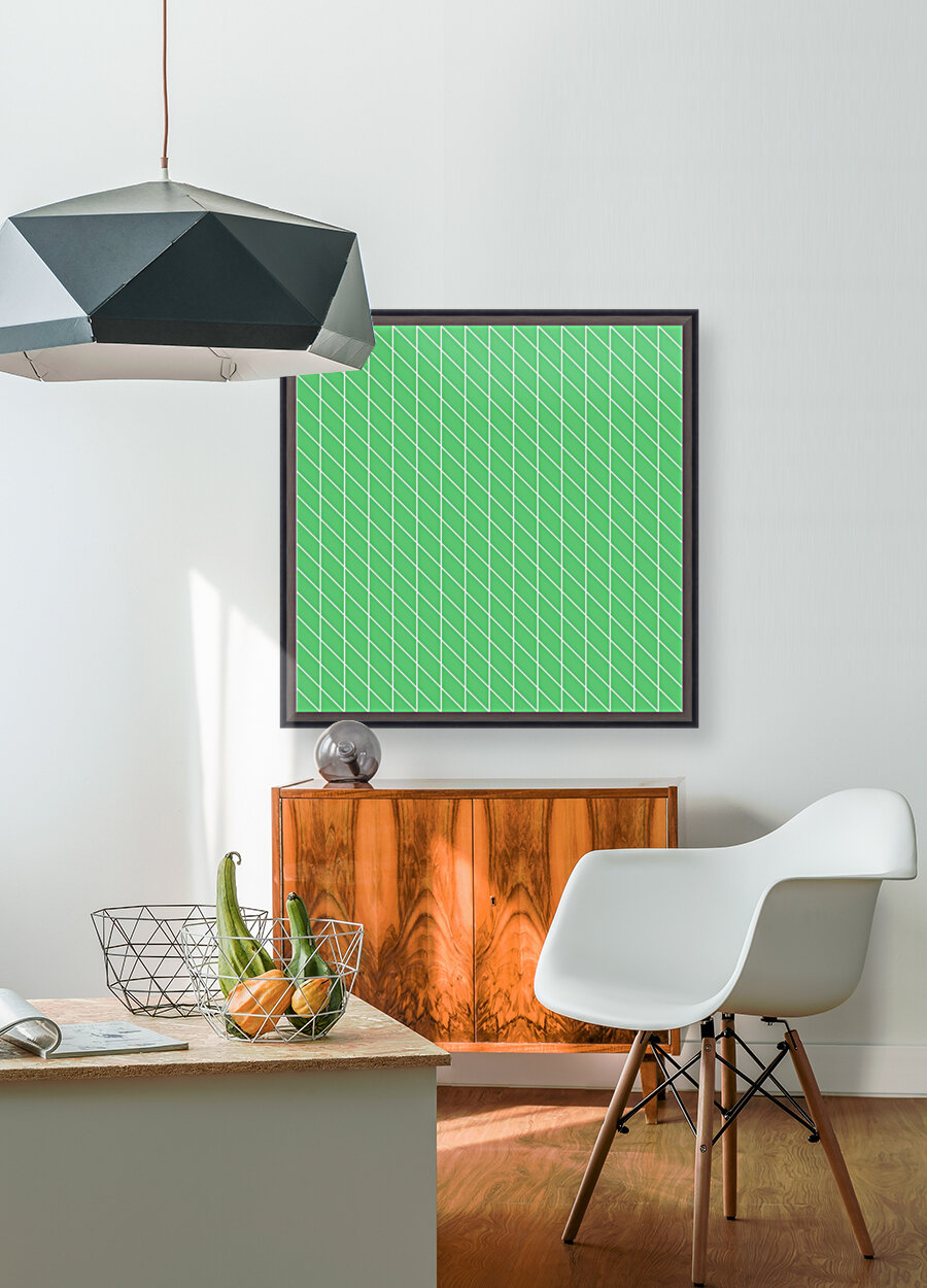 Green Color Checkers Pattern  Art
