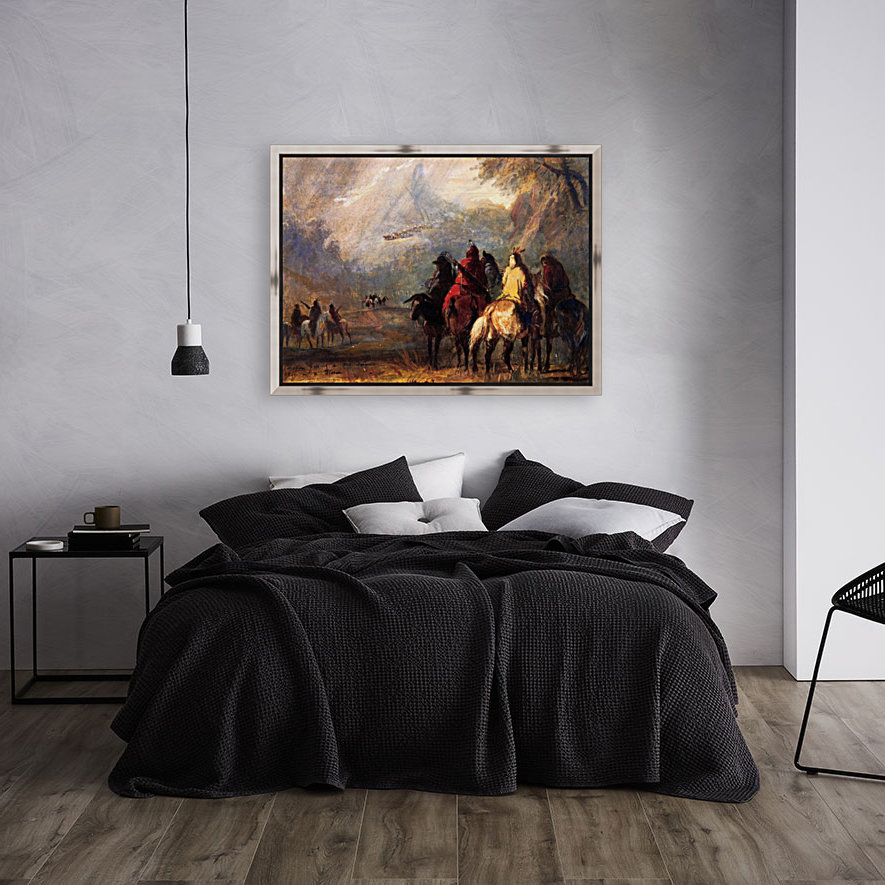 Caravan Passing a Mountain Gorge in a Storm  Art