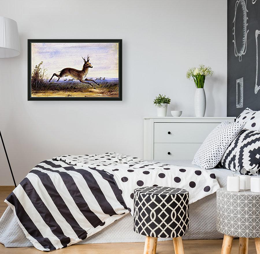 Antelope running  Art