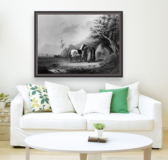 Sioux Indians in the mountains  Art