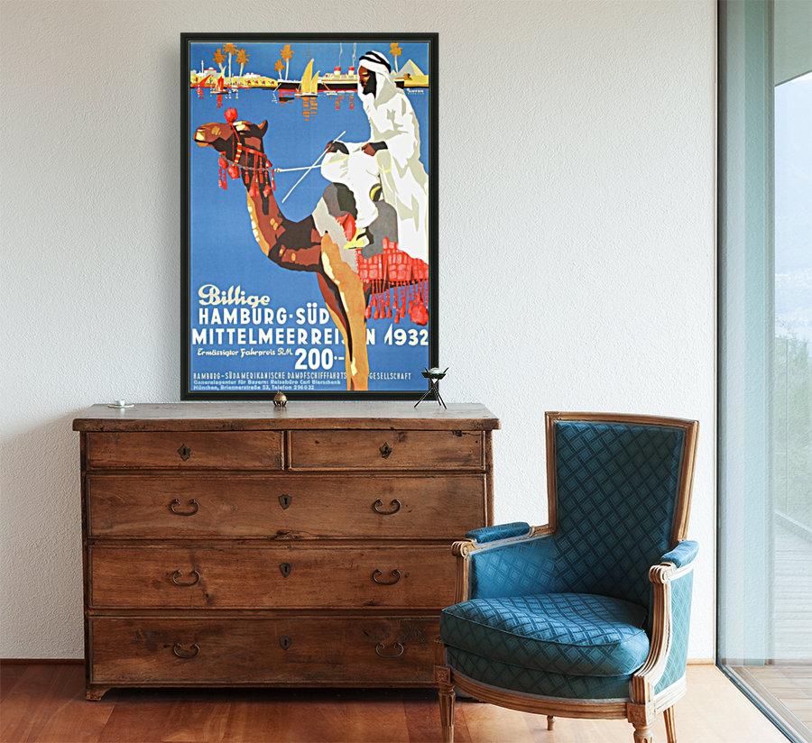 Hamburg-Sud Billige Mittelmeerreisen Original Poster  Art