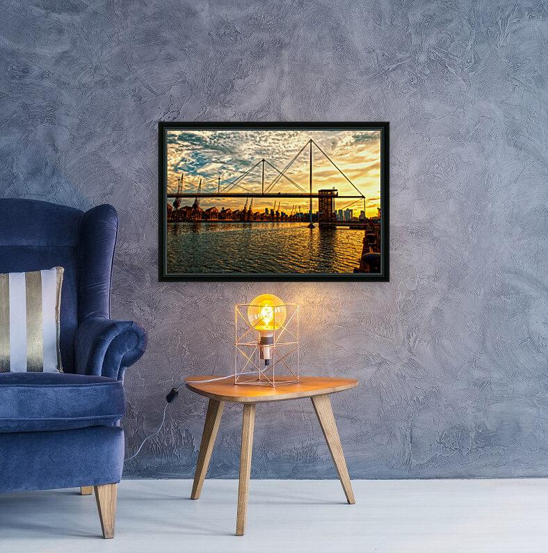 Amazing Sunset over river  Art