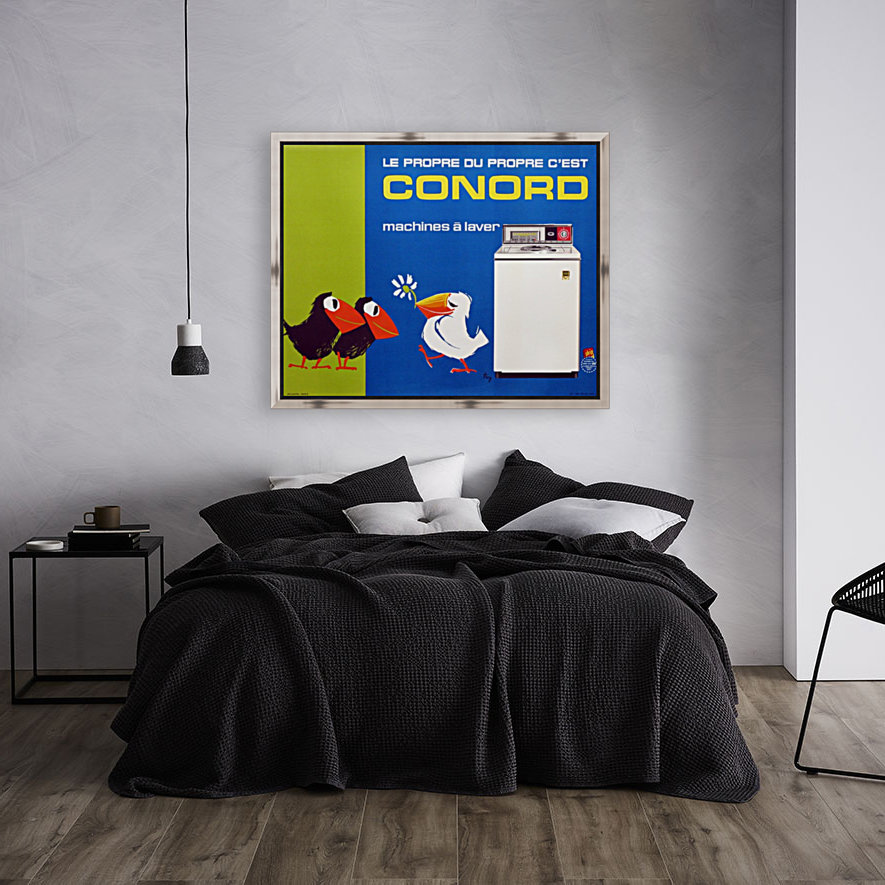 Original Appliance Poster, Conord Birds, 1960  Art