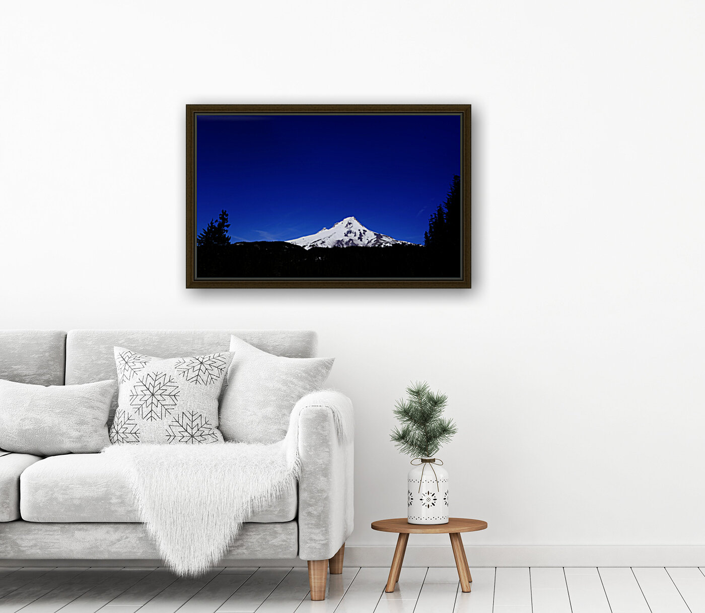 Mount Hood in the Waning Light of Day - Oregon Columbia River Gorge  Art