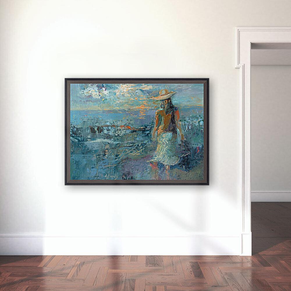Woman on a Twilight Beach  Art