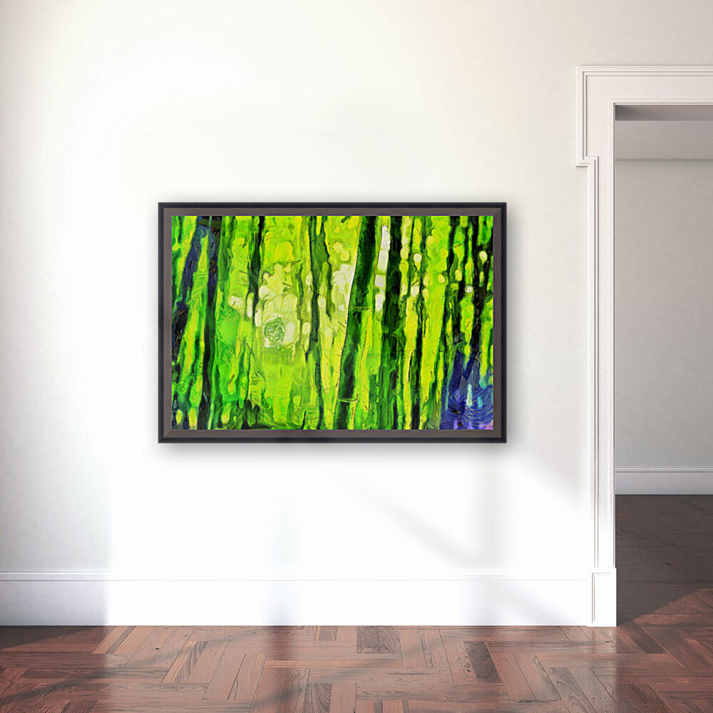 Bamboo forest oil painting inVincent Willem van Goghstyle. 3.   Art