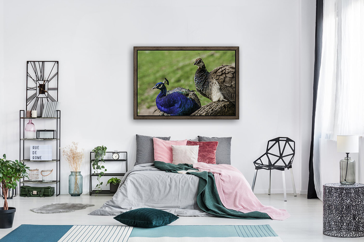 His and Hers  Peacock   Art