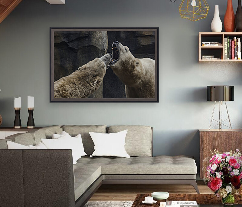 The Fight   Polar Bears   Art