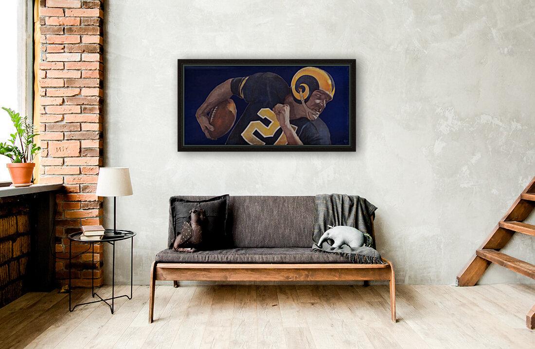1959 LA Rams Vintage Football Art  Art