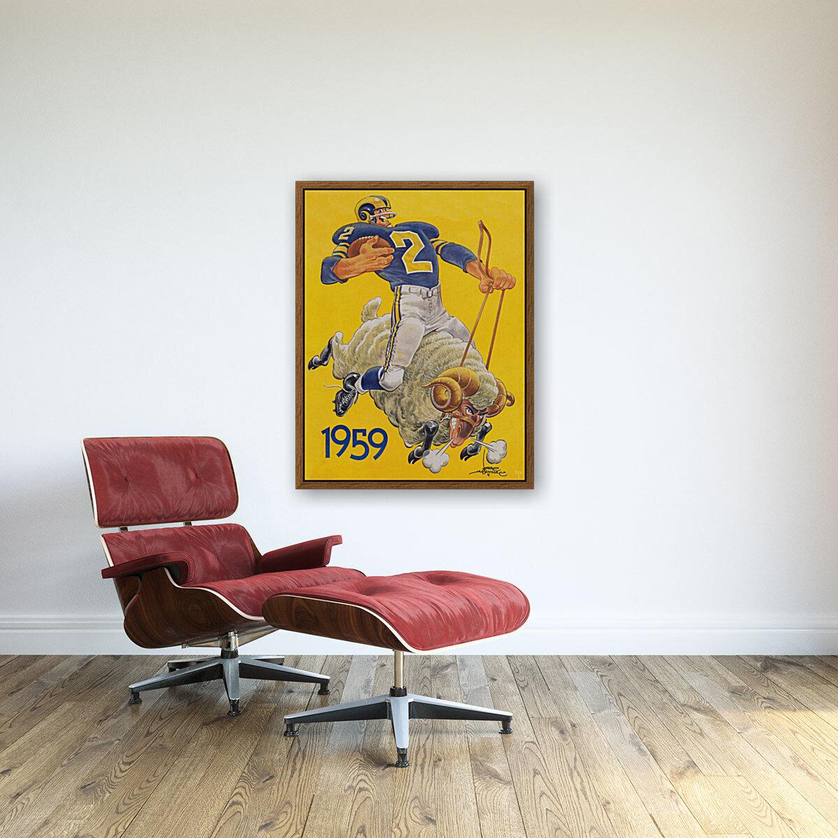 1959 LA Rams Karl Hubenthal Art  Art
