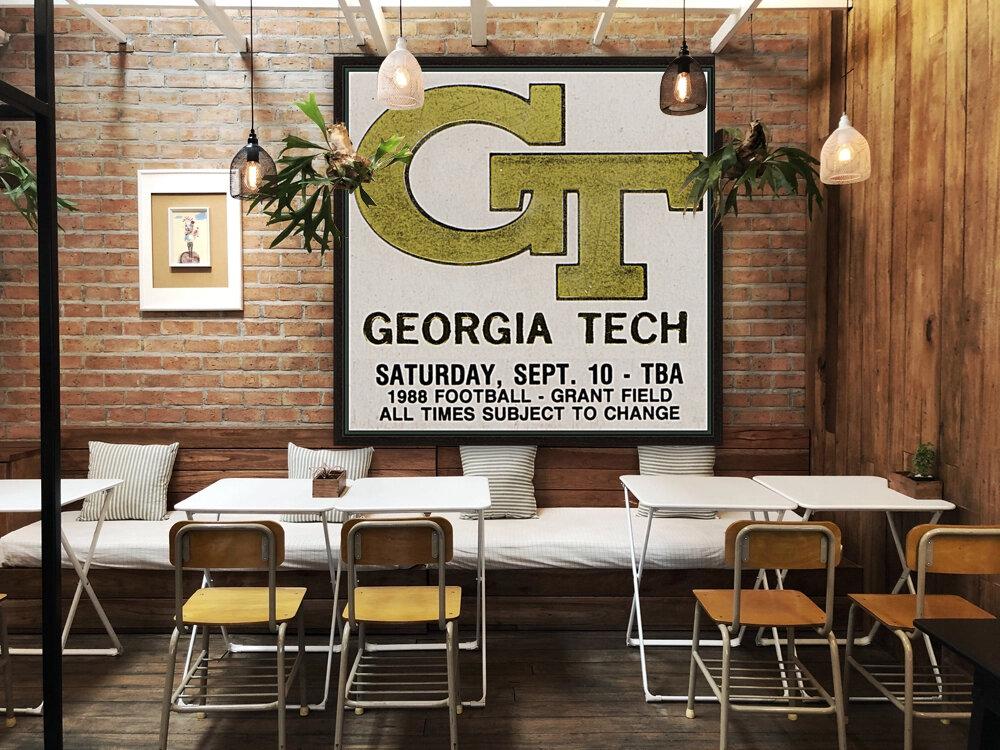1988 Georgia Tech Football Ticket Stub Remix  Art