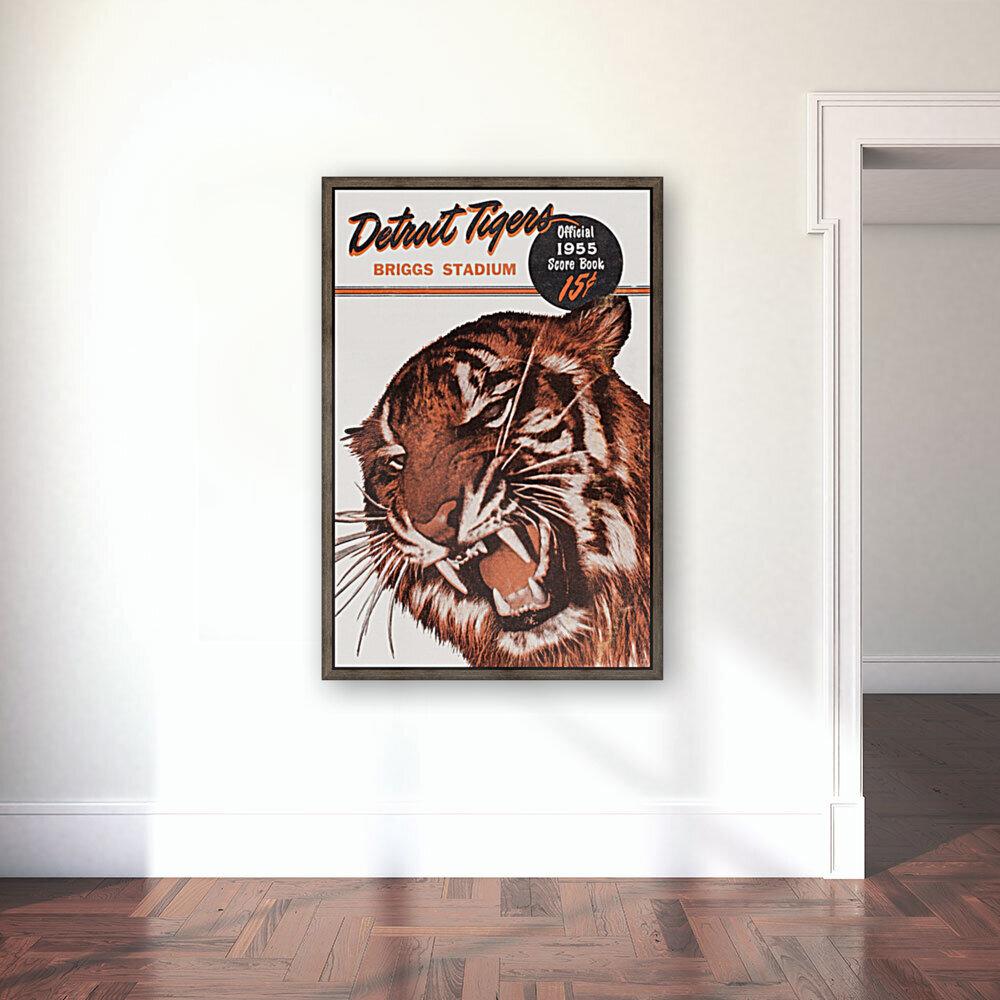1955 Detroit Tigers Score Book Canvas  Art