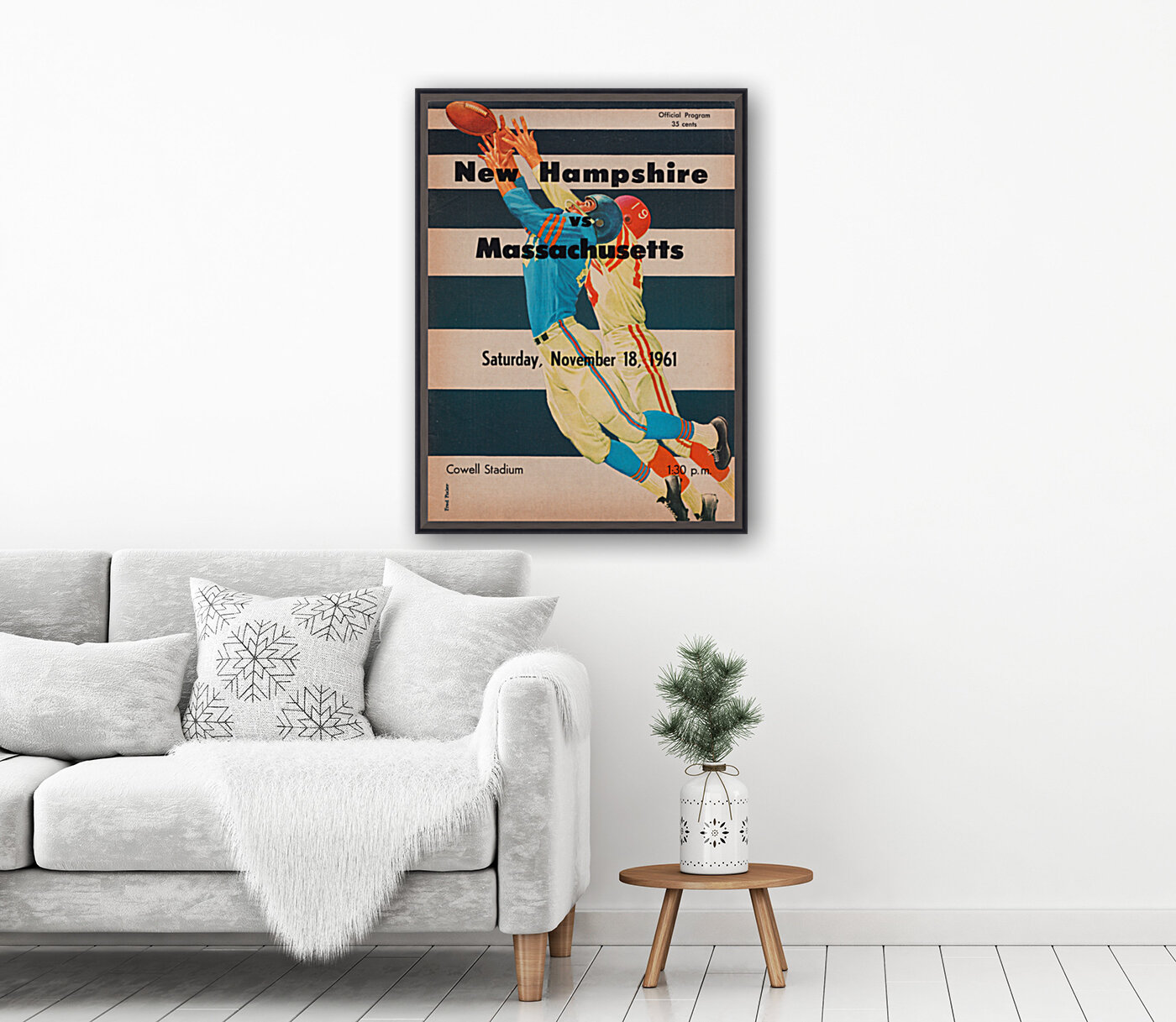 1961 Massachusetts vs. New Hampshire Wildcats  Art