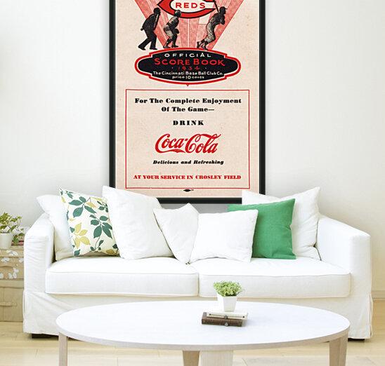 1934 Cincinnati Reds Score Book & Coke Ad  Art