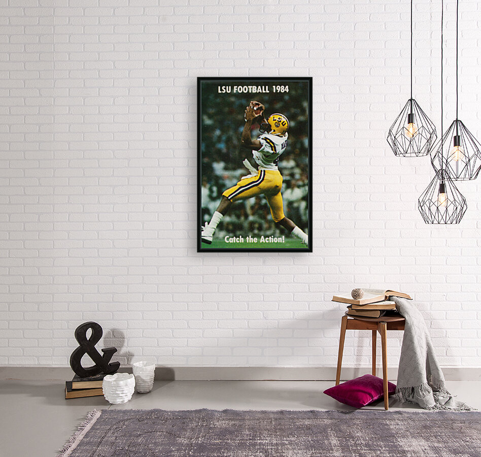 1984 LSU Tigers Football Catch The Action  Art