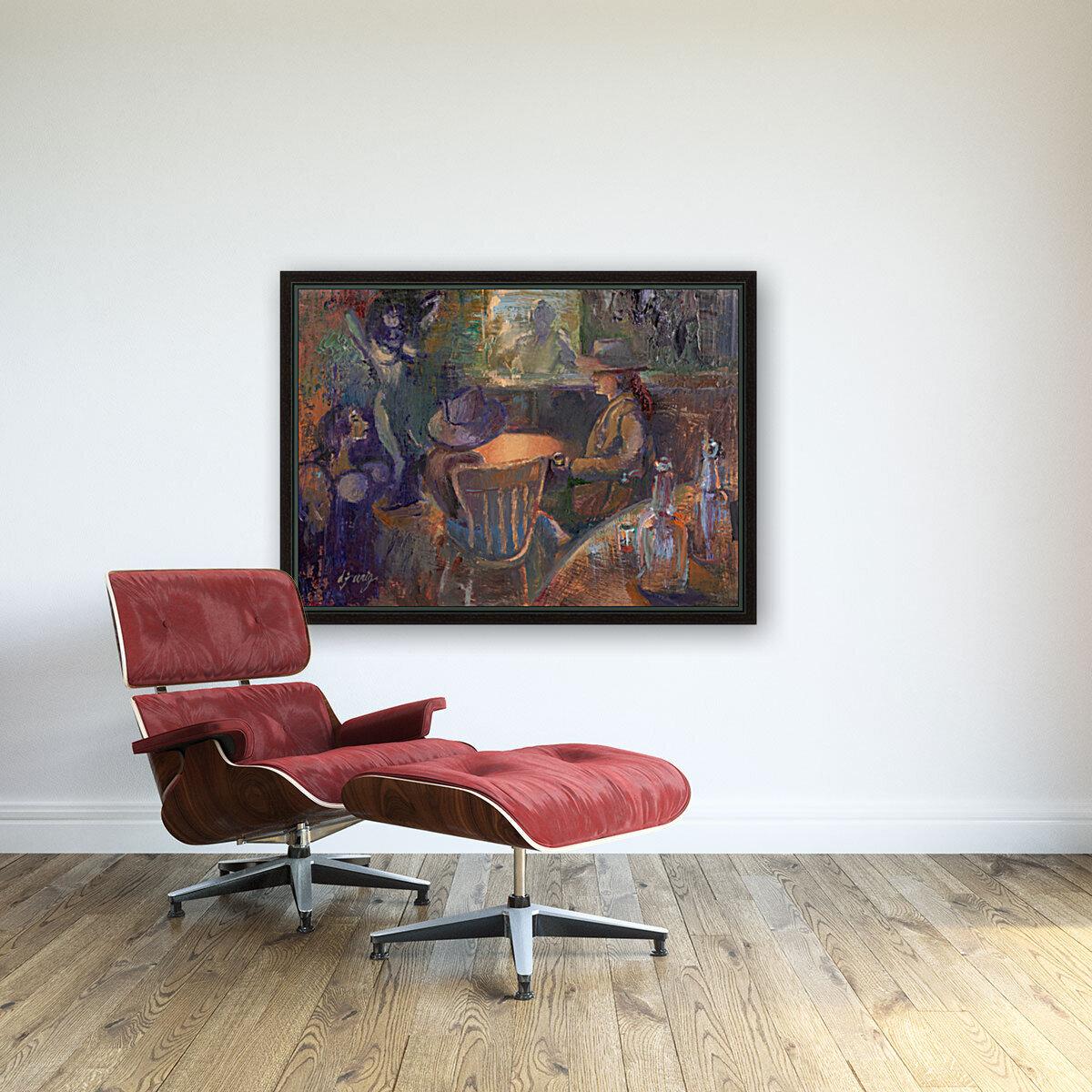 Wild West Brothel on the American Frontier  Art