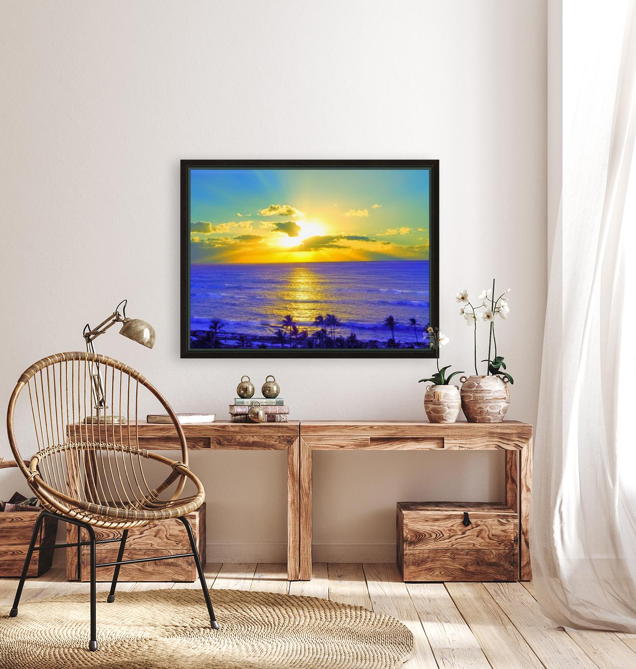 Golden Sunset After the Storm  Art