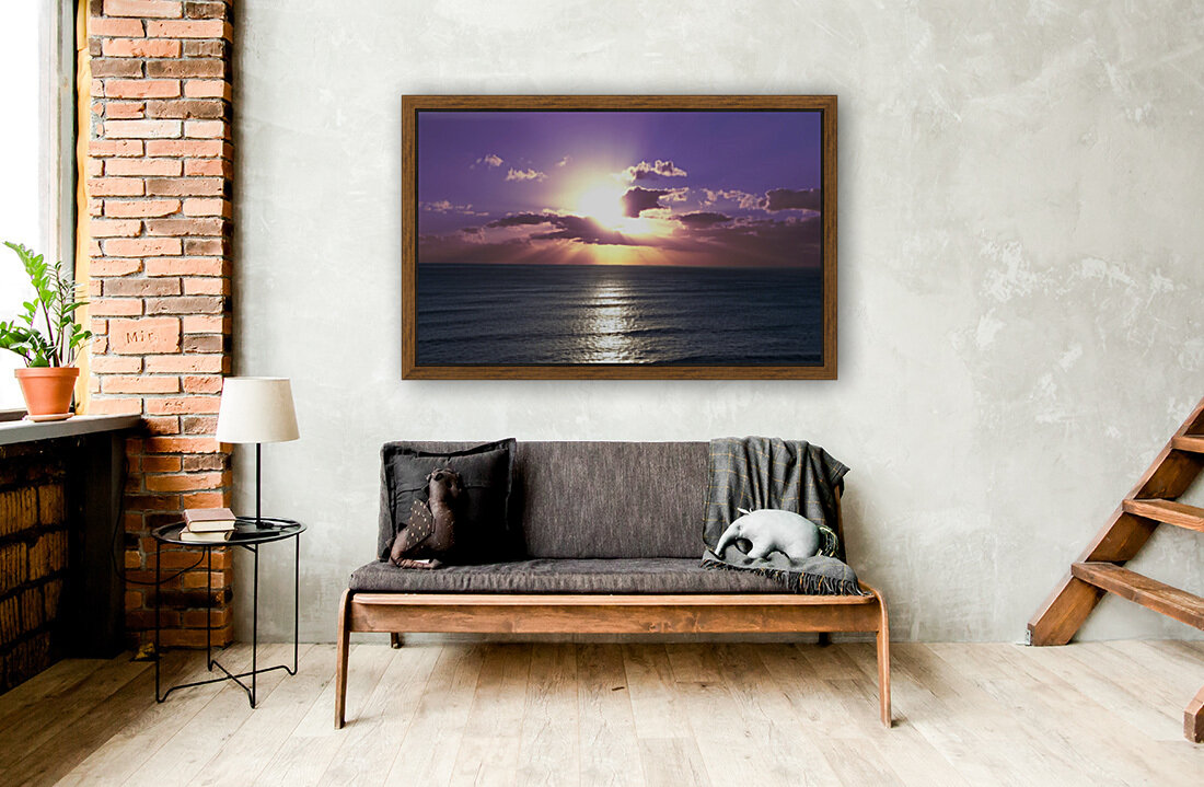 Tranquility - Relaxing Sunset over the Pacific  Art