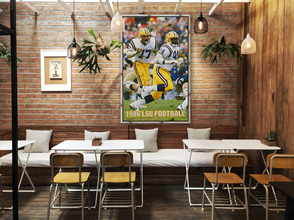 1986 LSU Retro Football Poster   Art