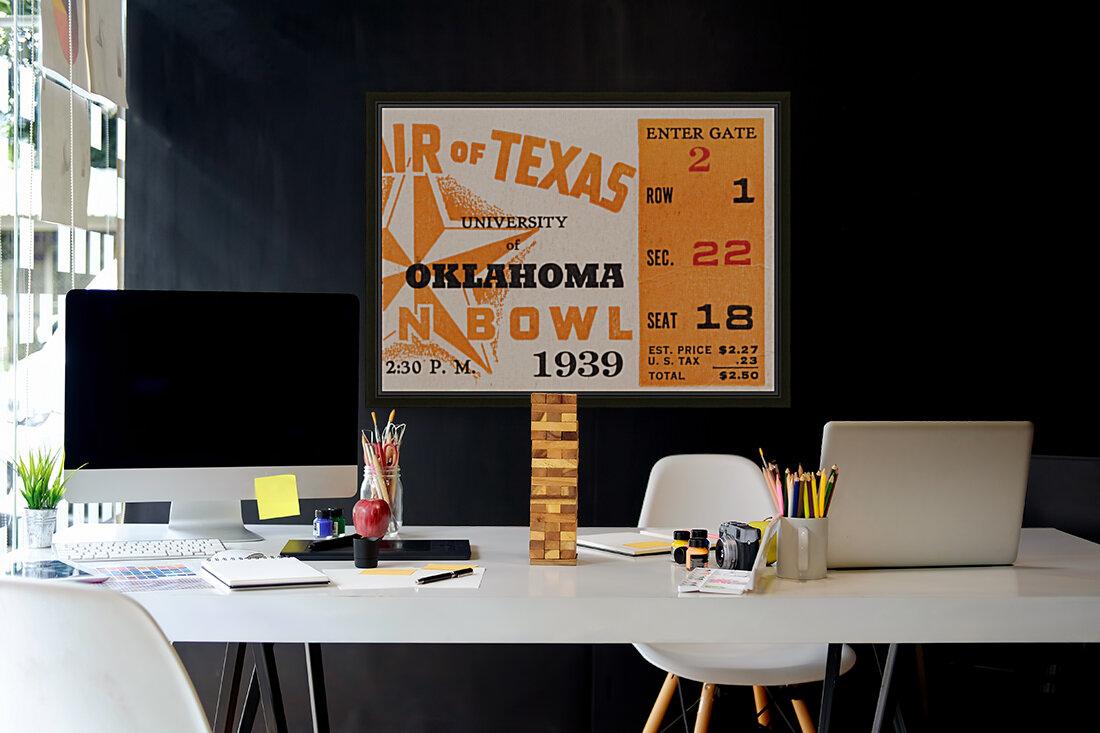 1939 Texas Longhorns vs. Oklahoma Sooners  Art