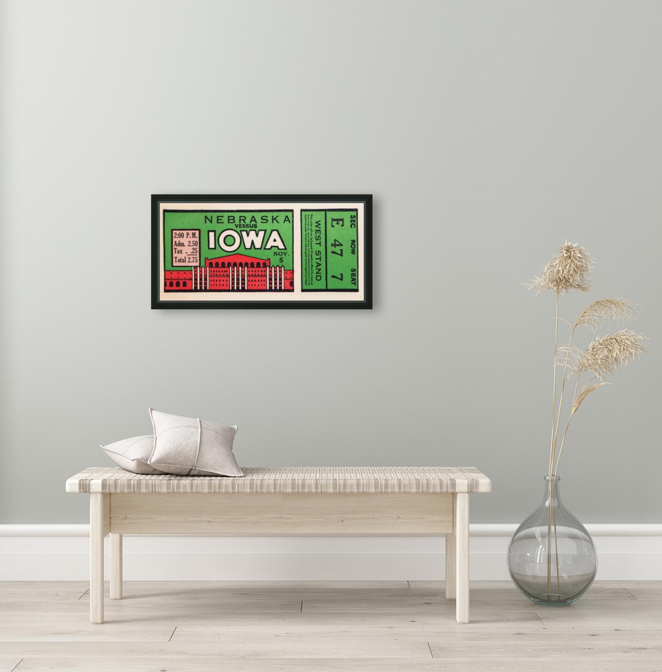 1932 Iowa Hawkeyes vs. Nebraska Cornhuskers  Art
