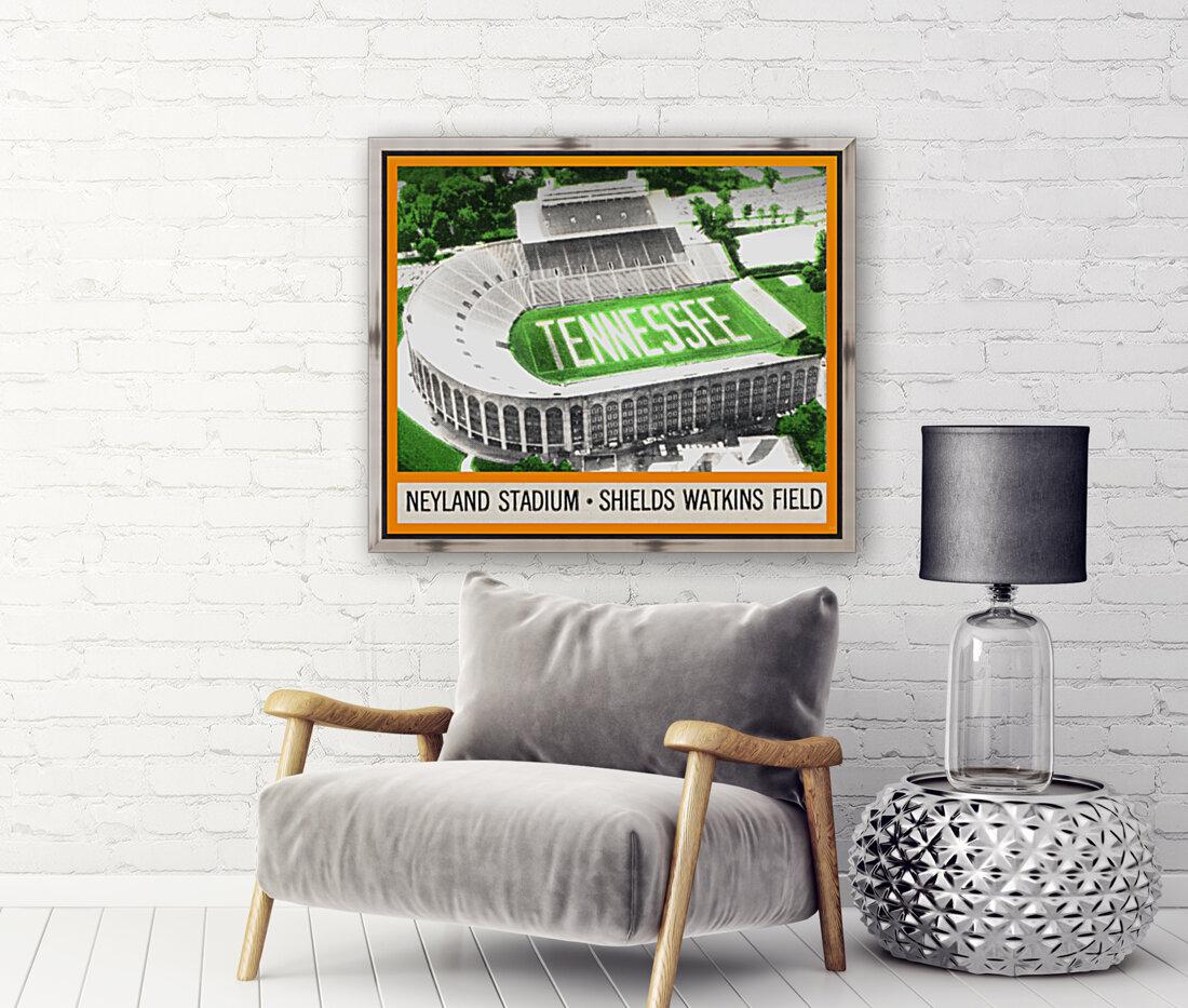 1964 Tennessee Vols Football Ticket Stub Remix  Art