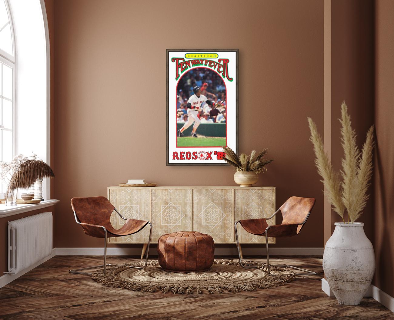 1985 Boston Red Sox Retro Poster  Art