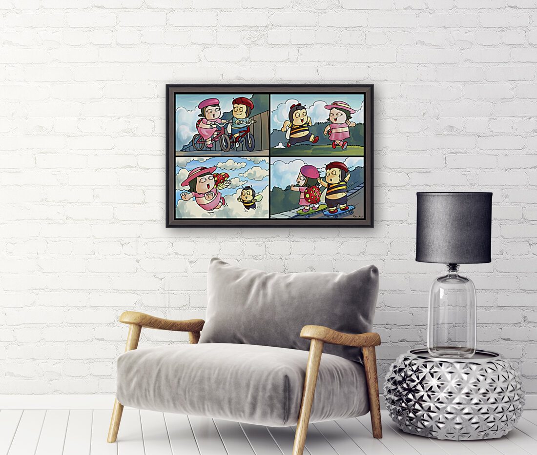 Best Friends at Play   4 panel Favorites for Kids Room and Nursery   Bugville Critters  Art
