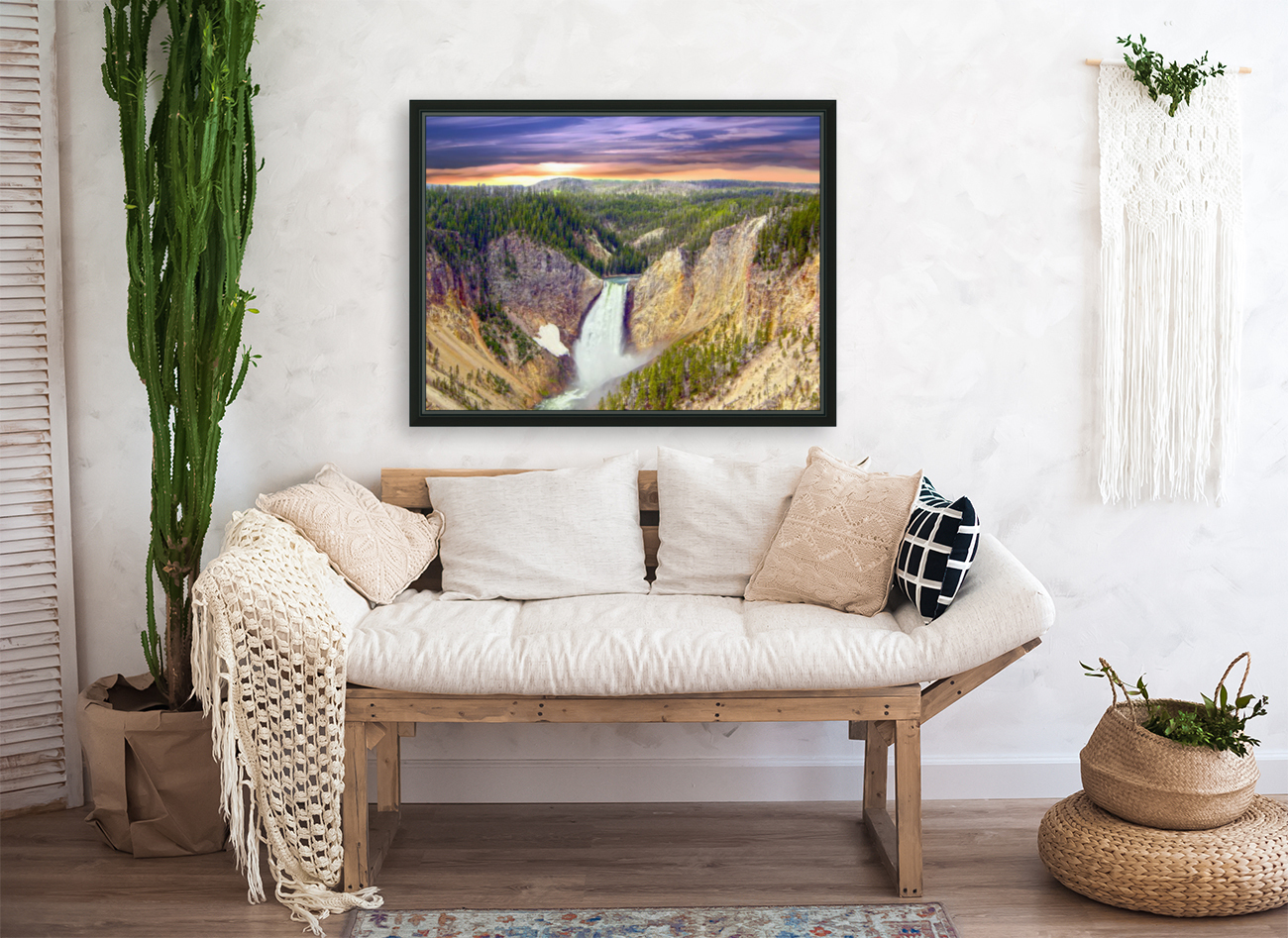 Grand Canyon of Yellowstone - The Falls in the Waning Light of Day - Yellowstone National Park at Sunset  Art