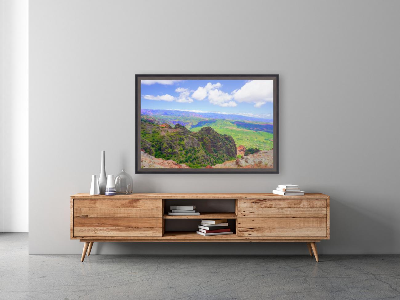 Waimea Canyon Area in the Puu Ka Pele Forest Reserve on the Island of Kauai Hawaii  Art