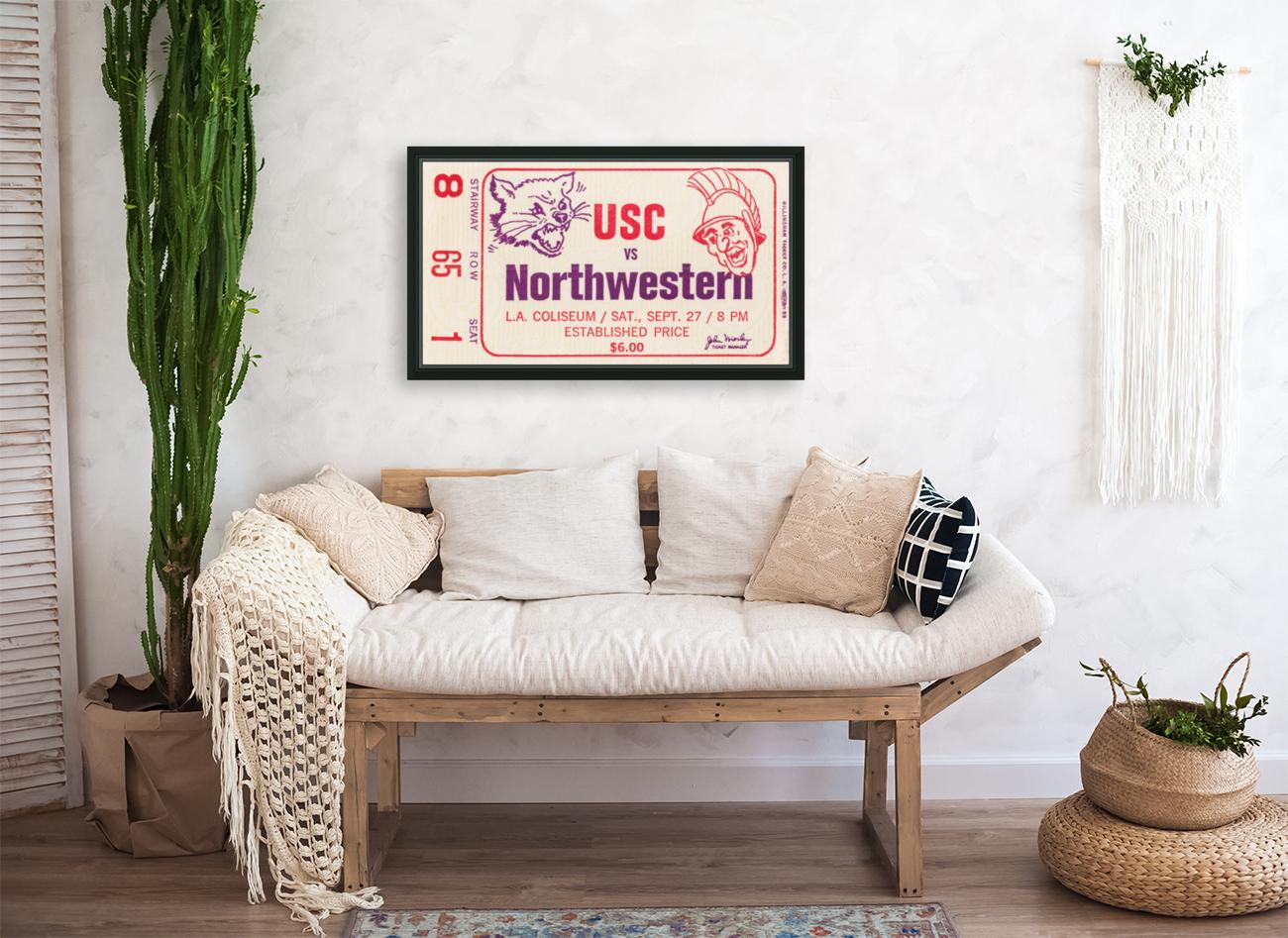 1969 USC Trojans vs. Northwestern Wildcats  Art