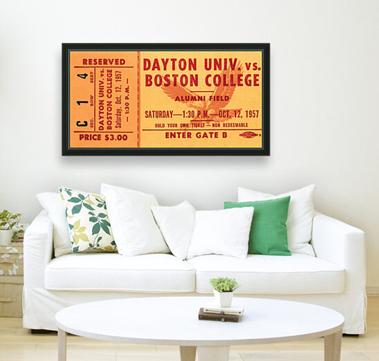 1957 Dayton Flyers vs. Boston College Eagles  Art