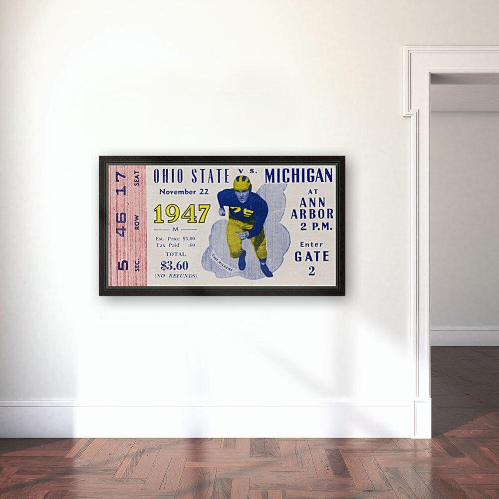 1947 Michigan Wolverines vs. Ohio State Buckeyes  Art