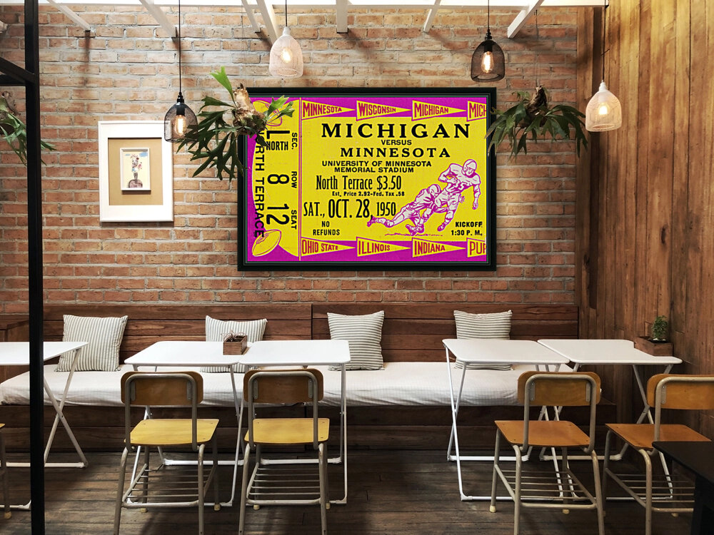 1950 Minnesota Golden Gophers vs. Michigan Wolverines  Art