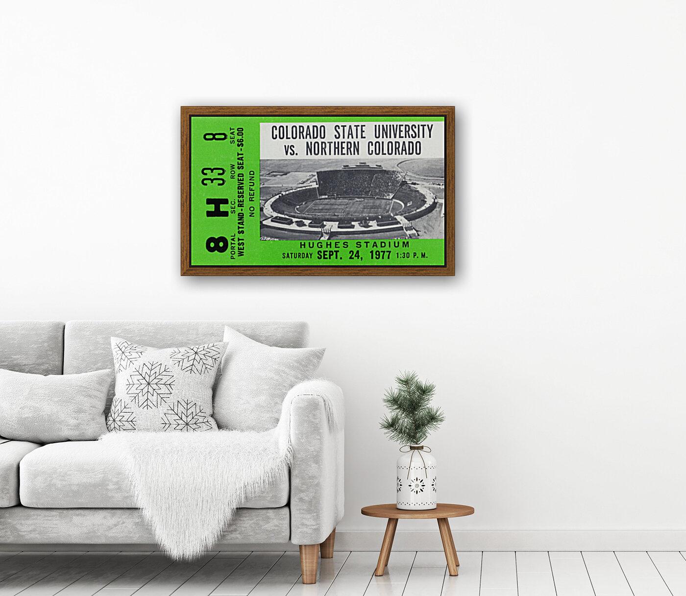 1977 Colorado State Rams vs. Northern Colorado  Art